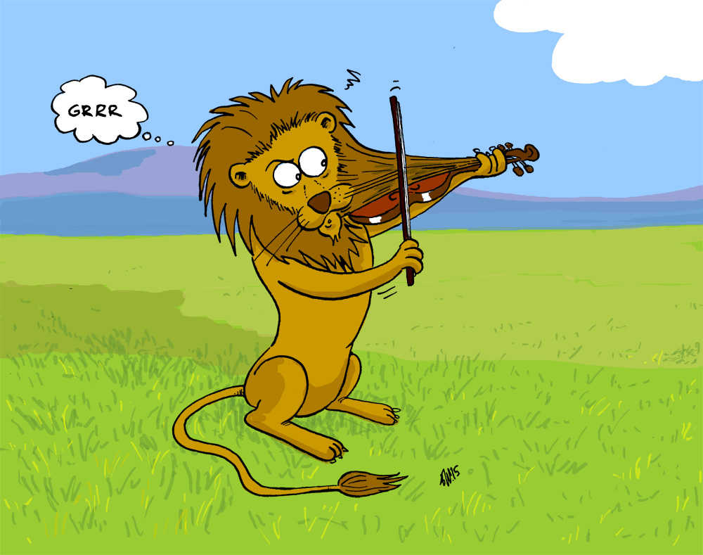 Lion with Violin