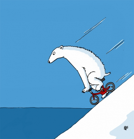 Polar Bear on a Bike